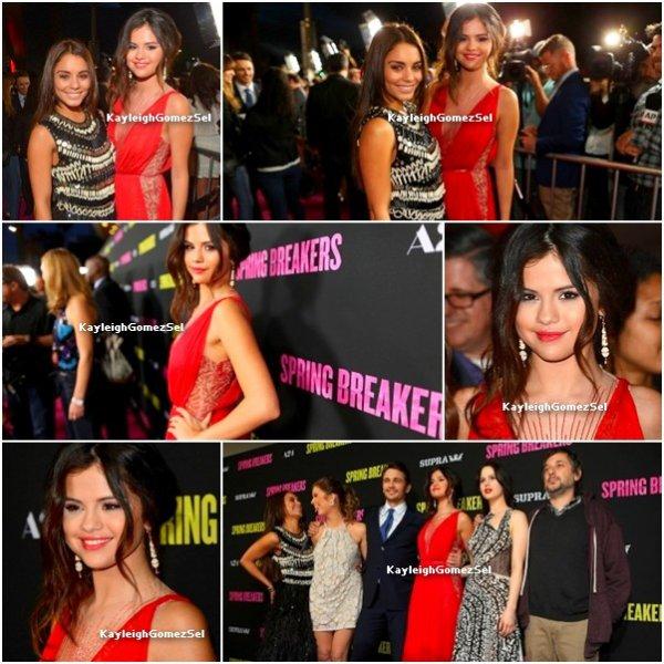 14.03.13 : Ashley, Selena, Rachel et vanessa était à l'avant première de spring breakers à hollywood. Top ou Flop ?