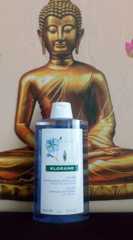 Mon nouveau shampooing #KLORANE Actif naturel Fibres de Lin Effet Volume et texture Pour cheveux fins, sans volume.