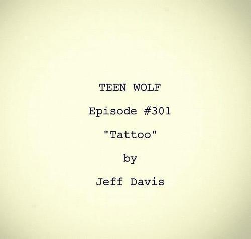 """L'Episode 301 """"Tatoo"""", une partie du script en français"""