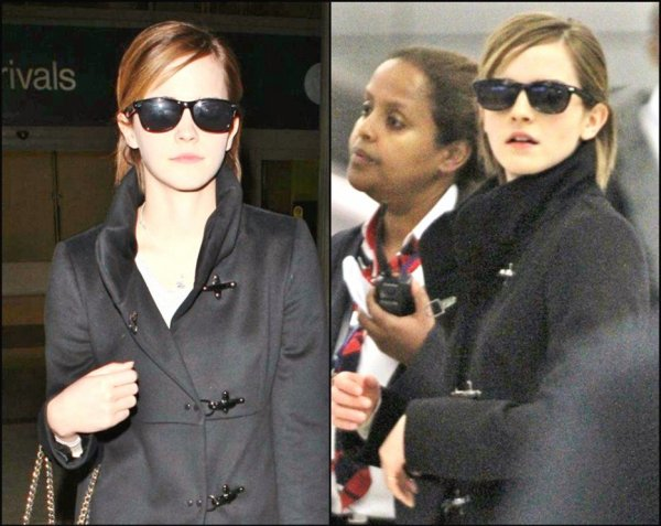 """. ● 8.03.12 : Candids : Emma a été vue en arrivant à l'aéroport de LAX à Los Angeles. Emma a donc bel et bien déménagé pour commencer le tournage de """"The Bling Ring"""". ."""