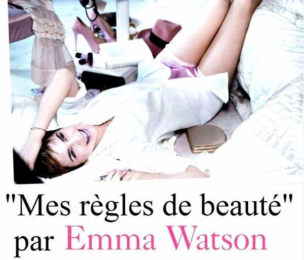 . ● Voici en intégralité la traduction de l'interview d'Emma pour Glamour UK voir cet article..