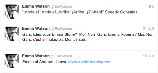 . ➜ Beaucoup de messages et de citations ont été postés sur le Facebook d'Emma.+ 3 Nouveaux tweets..