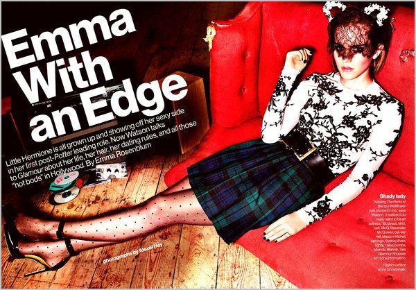 . ➜ Emma fait la couverture de Glamour Uk & Glamour USA..