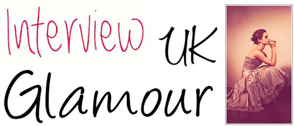 . ➜ Découvre un nouvel interview d'Emma pour Glamour UK.