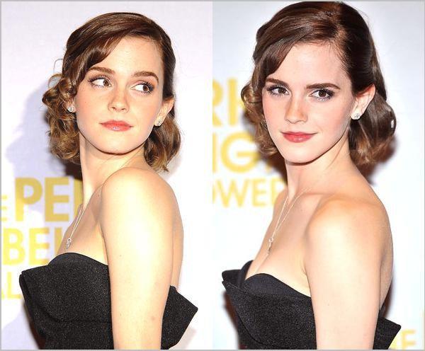 """. 26/09/12 ➜ Emma était présente dans sa robe Dior à la première de """"The Perks"""" à Londres  ."""