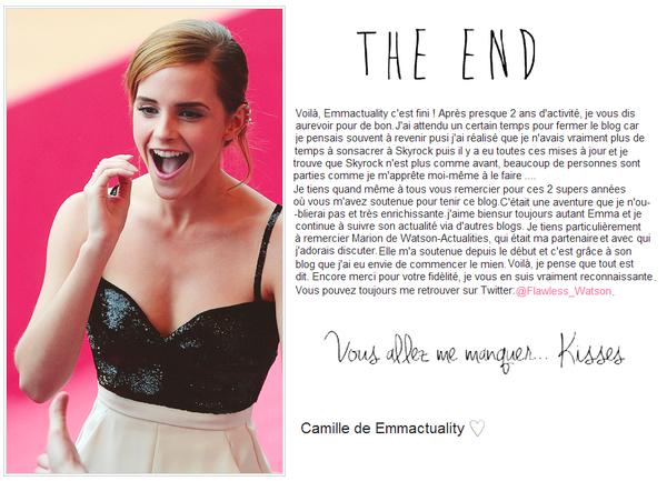. ➜ Voilà,c'est bel et bien la fin de Emmactuality... .