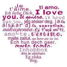 Je t'aime en plusieurs langues ....