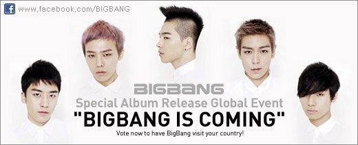Votez pour faire venir BIG BANG chez vous!