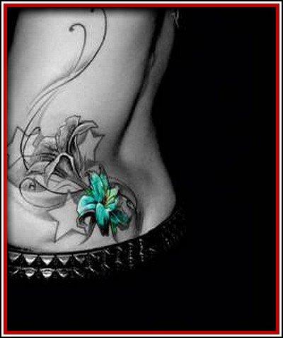 Tatouage Fleur De Lys Noir Et Blanc Pret A Taux Zero