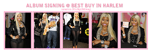 PHOTOS: 'Pink Friday: Roman Reloaded' Album Signature Best Buy @ à Harlem