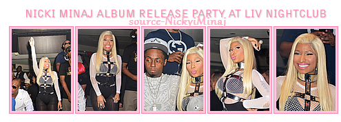 PHOTOS: Nicki Minaj Parti parution de l'album A Nightclub Liv