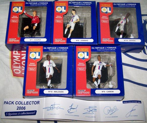 PACK COLLECTOR 2006 GAME HEROS OLYMPIQUE LYONNAIS