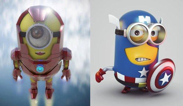 les minions version héros ......