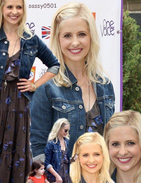 """02.06 - Sarah a été vu au 7ème festival de """"Kidstock Music and Art Festival"""", à LA en compagnie de Charlotte! je trouve que Sarah est vraiment très jolie j'aime beaucoup sa robe ;) ♥"""
