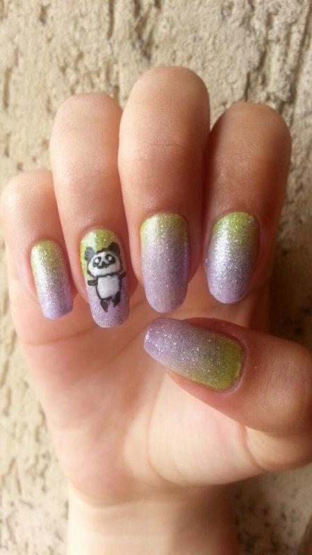 """nail art """"cute panda"""""""