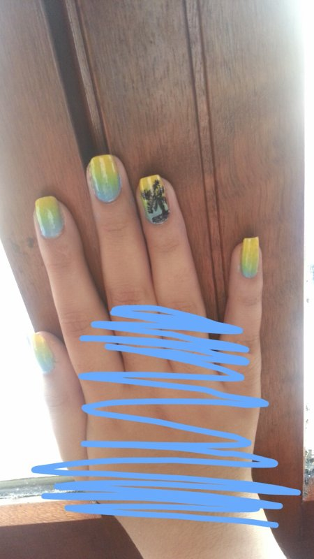 "Nail art ""summer time is back"""