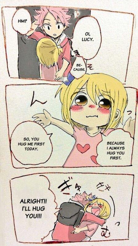 Natsu Lucy petit ils sont trop kawai ❀