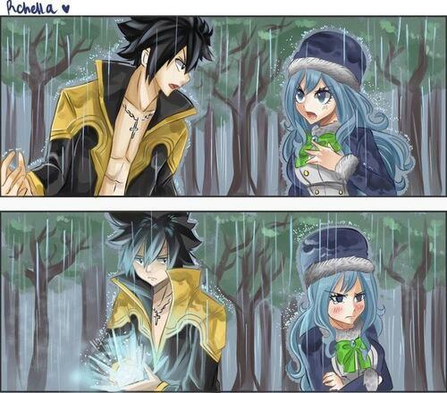 Sous la pluie*