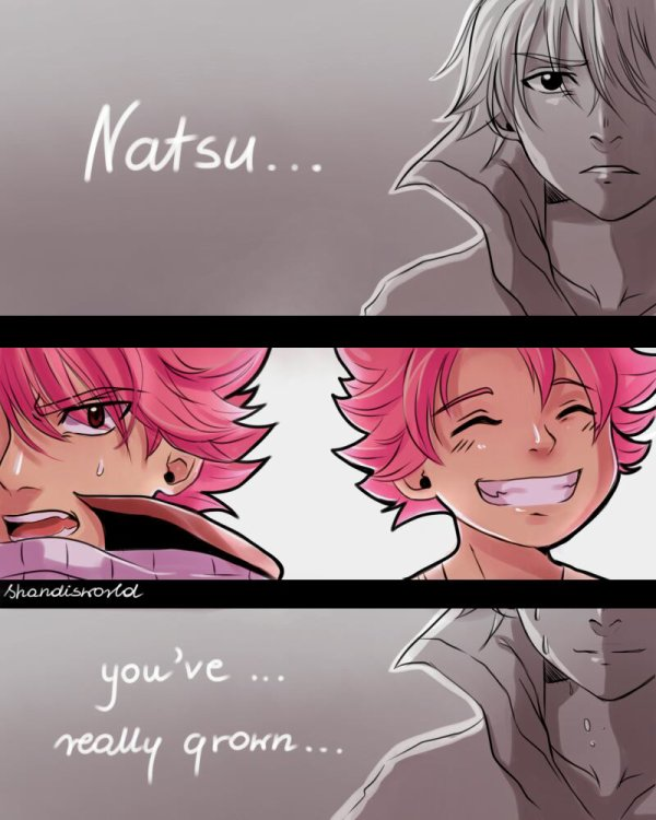 Natsu You've... veally. grown