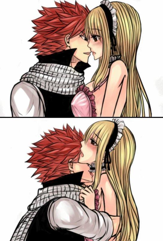 Encore un moment entre Lucy et Natsu. ❤