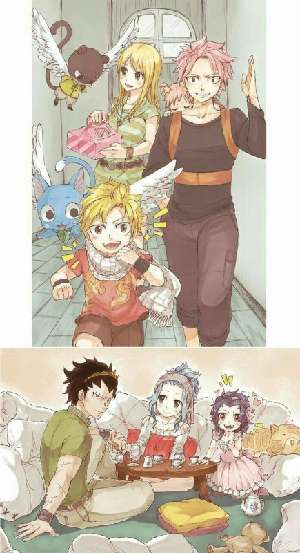 Les deux familles.
