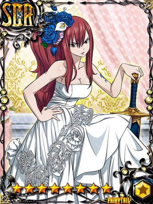 Carte de fille en robe de mariage blog de imagefairytail - Fille fairy tail ...