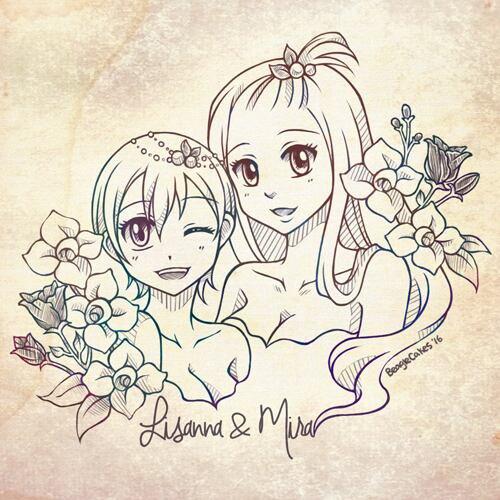 Fleurs en amour.