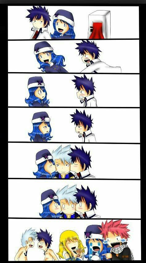 -Natsu pleure de rire