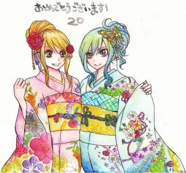 -Kimono de Lucy et Juvia.