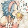 -I love you.. Me too!
