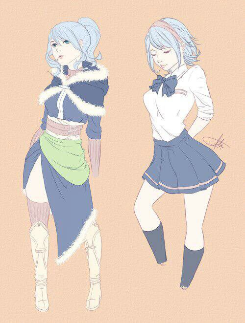 Deux styles pour la jolie Juvia de fairy tail!