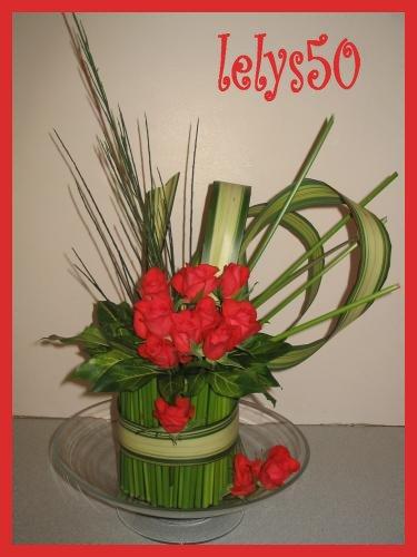 bouquet dans une coupelle