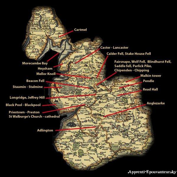 Carte du Comté