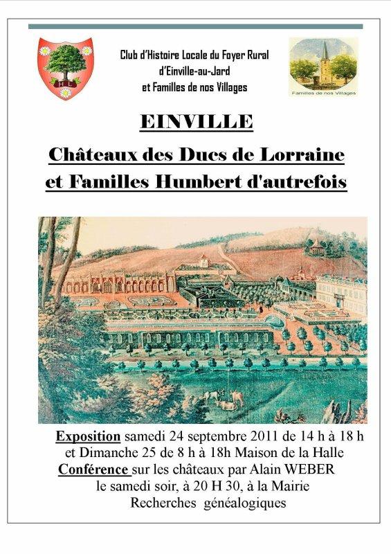 Exposition et conférence : Châteaux des Ducs de Lorraine...