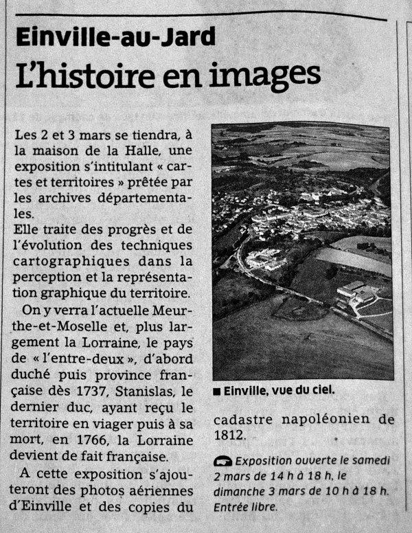 EXPOSITION CARTOGRAPHIQUE 2et 3 MARS 2013