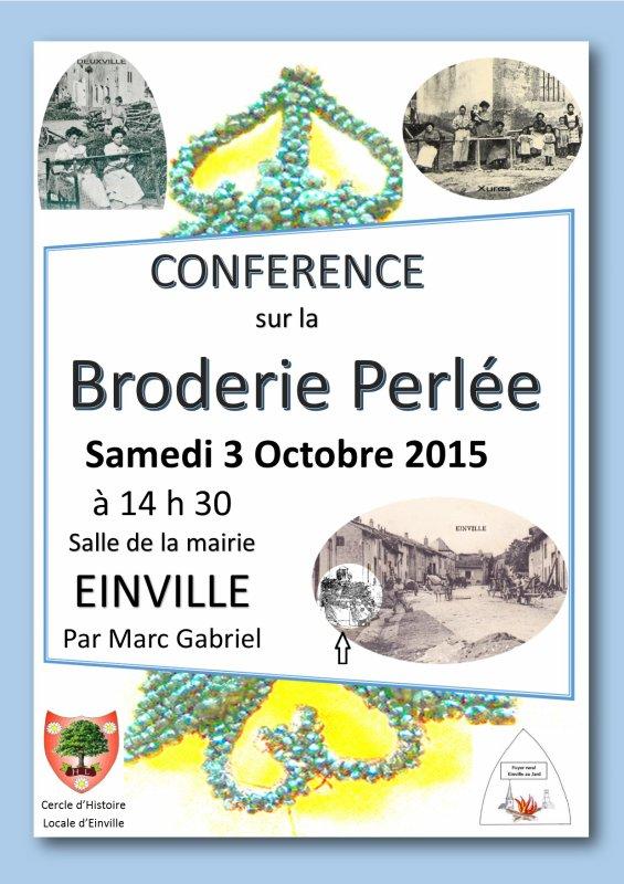 Conférence Broderie Perlée avec Marc Gabriel