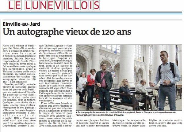 UN AUTOGRAPHE VIEUX DE 120 ANS