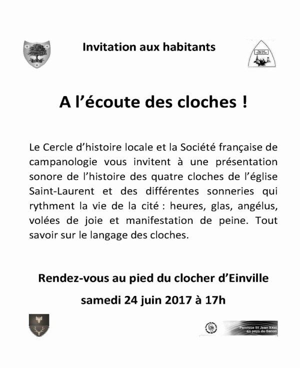 A l'ECOUTE DES CLOCHES!