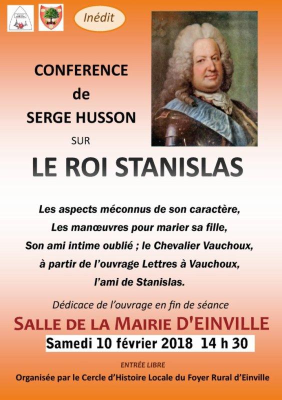 CONFERENCE  : LE ROI STANISLAS