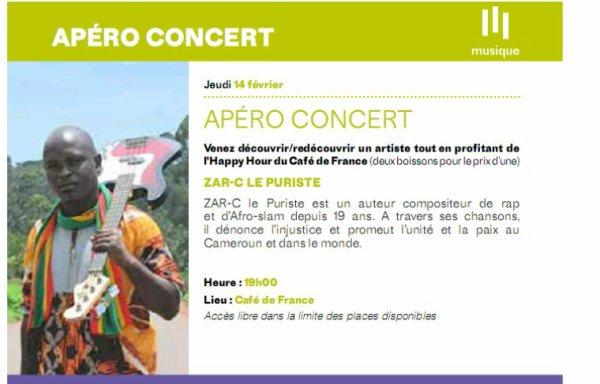 Sacré spectacle ce 14 février 2019 dès 19h à l'Institut Français de Yaoundé