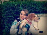 Moi et le chien de ma couz