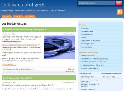 Le blog du prof geek  ...