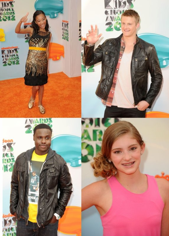 "Amanda, Alexander, Dayo, Willow, Isabelle et Jacqueline aux ""Kids Choice Awards 2012""."
