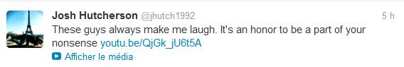 Nouveaux tweets de Josh.