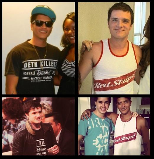 ♥ Bruno Mars et Josh Hutcherson ♥