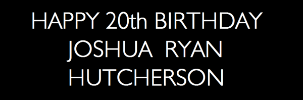 ♥ HAPPY BIRTHDAY, Mr. Hutcherson ♥