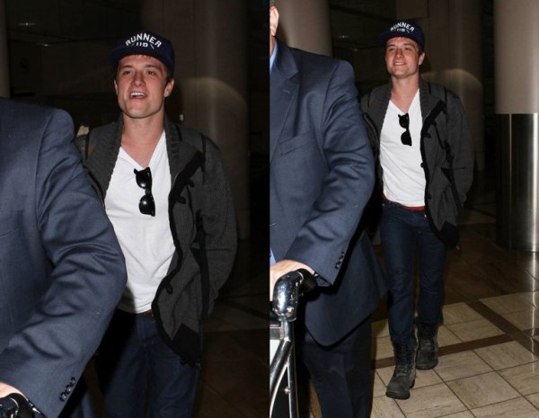 Josh à LAX Airport (Los Angeles 18-11-12).