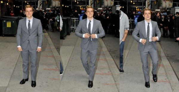 "Josh au ""Late Show with David Letterman"" (New-York 20-11-12)."
