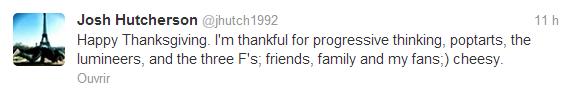 Tweets de Josh.