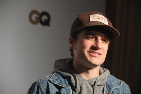"""Josh à la """"Lacoste/GQ Super Bowl Party"""" (Nouvelle Orléans 02-02-13)."""